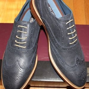 RUSH BY RUSH GORDON STROUD NAVY LEATHER OXFORD